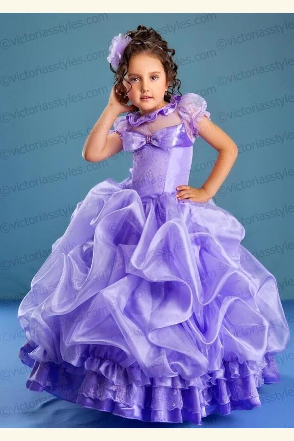 Выкройка пышного платья девочки