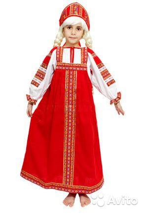 Как сшить русское платье для девочки