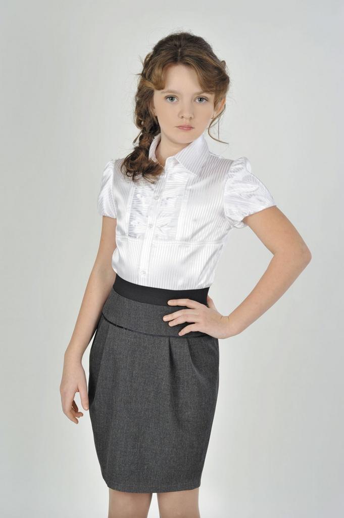 Как сшить юбку школьную на девочку 156