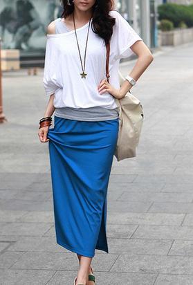 Как сшить длинную узкую юбку
