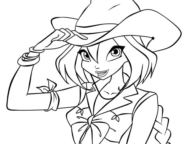 Раскраска для девочек винкс онлайн бесплатно - 10