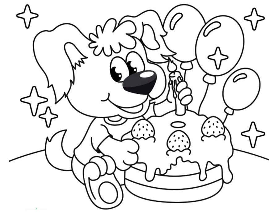 Раскраски с днём рождения мальчику