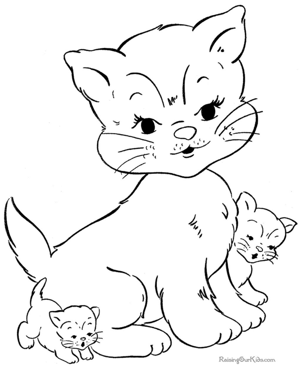 Раскраски кошку распечатать бесплатно
