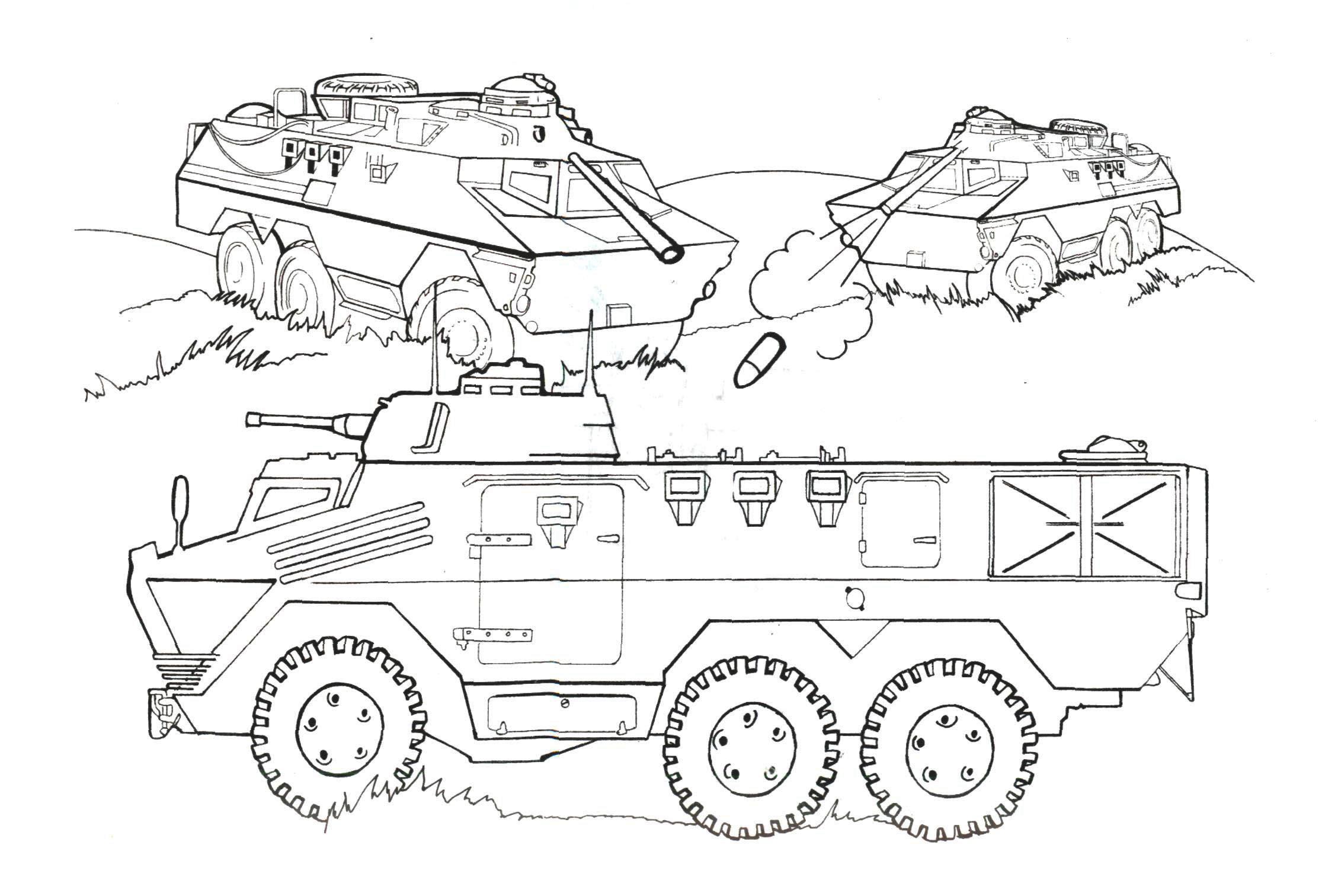 Раскраска военная для малышей