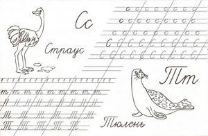 прописи для каллиграфии распечатать-1